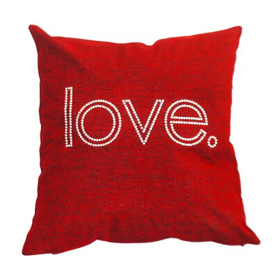 Rhinestone love Throw Pillow