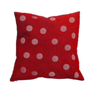 Rhinestone Bobble Throw Pillow Color: Crimson