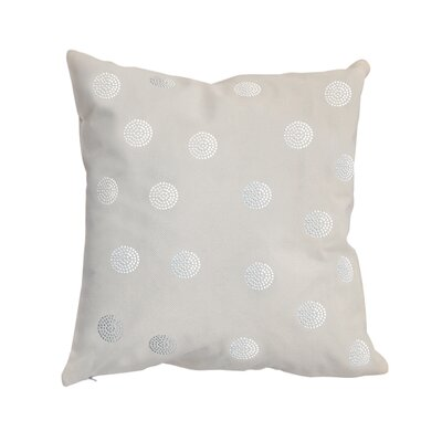 Rhinestone Bobble Throw Pillow Color: Ivory