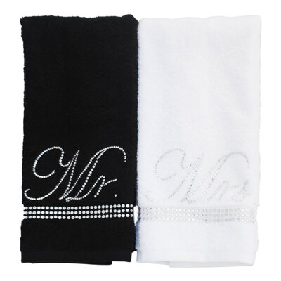 Rhinestone Mr. and Mrs. Hand Towel