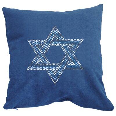 Rhinestone Star of David Throw Pillow