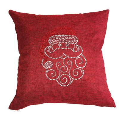 Rhinestone Santa Claus Throw Pillow