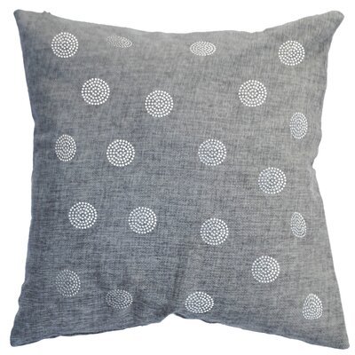 Rhinestone Bobble Throw Pillow Color: Ash