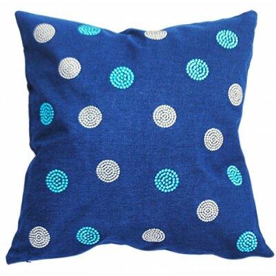 Rhinestone Bobble Throw Pillow Color: Navy
