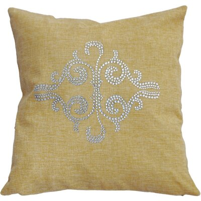 Rhinestone Crescent Throw Pillow Color: Ivory