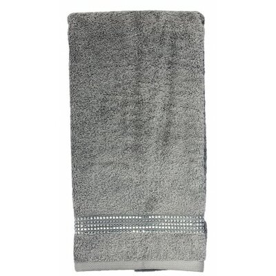 Rhinestone Stripe Hand Towel Color: Gray