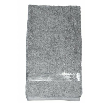 Rhinestone Stripe Bath Towel Color: Black