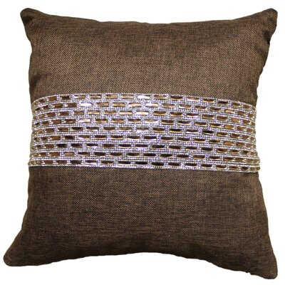 Park Ave Stripe Throw Pillow Color: Chocolate