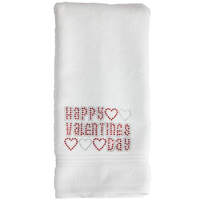 Valentines Day Washcloth Color: White