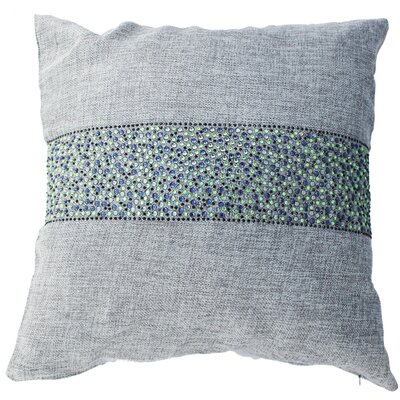 Throw Pillow Color: Ash / Peacock