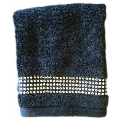 Rhinestone Washcloth Color: Black
