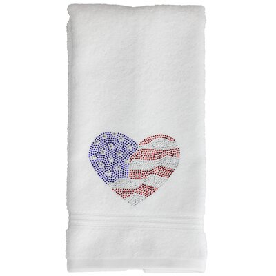 4th of July Hand Towel Color: Red