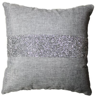 Luminous Stripe Throw Pillow Color: Black
