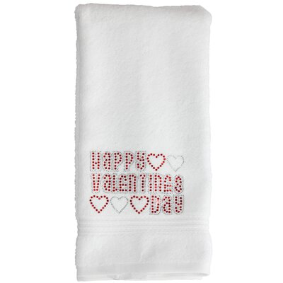 Valentines Day Hand Towel Color: White