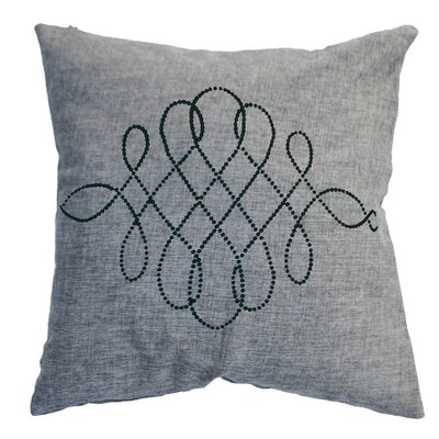 Rhinestone Swirl Throw Pillow Color: Ash