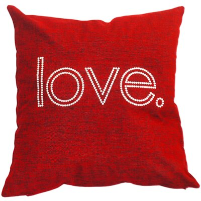 Love. Throw Pillow Color: Crimson