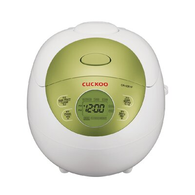3 Cup Electric Warmer Rice Cooker Color: Green CR-0351FG