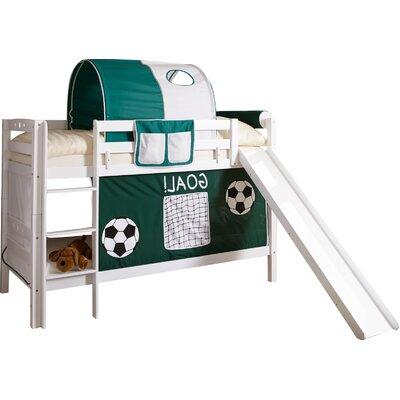 Etagenbett Lupo mit Rutsche 90 x 200 cm | Kinderzimmer > Kinderbetten > Etagenbetten | Whitegreen | Massiver - Buche - Holz | TICAA