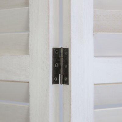 Paravent Hiltz mit 3 Paneelen | Wohnzimmer > Regale > Raumteiler | White | Holz | Brambly Cottage