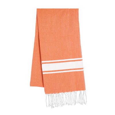 Fouta Beach Towel Color: Tangerine