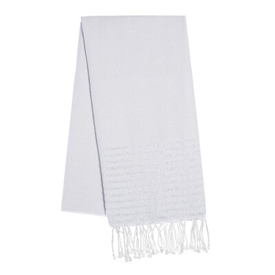 Fouta Lurex Stripes Beach Towel Color: Light Gray