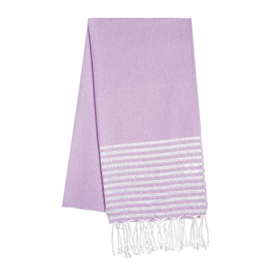 Fouta Lurex Stripes Beach Towel Color: Purple/Silver