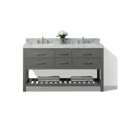 Elizabeth 60 Double Bath Vanity Set Base Finish: Sapphire Grey