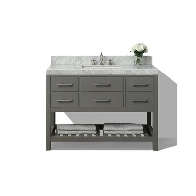 Elizabeth 48 Single Bath Vanity Set Base Finish: Sapphire Grey