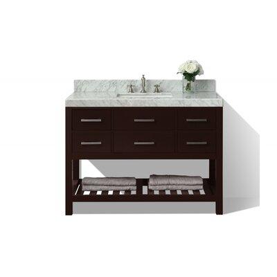 Elizabeth 48 Single Bath Vanity Set Base Finish: Espresso