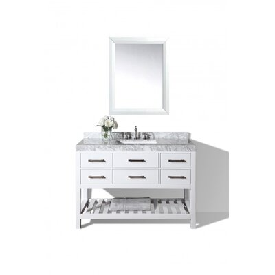 Elizabeth 48 Single Bath Vanity Set Base Finish: White