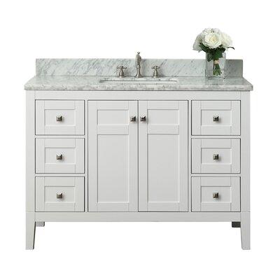 Maili 48 Single Bath Vanity Set Base Finish: White
