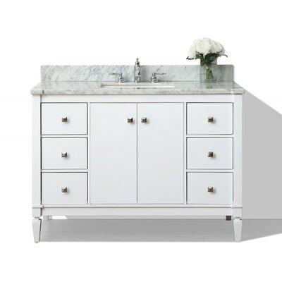 Kayleigh 48 Single Bath Vanity Set Base Finish: White