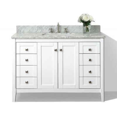 Shelton 48 Single Bath Vanity Set Base Finish: White