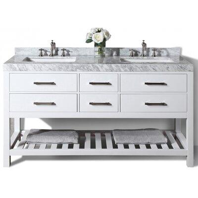 Elizabeth 60 Double Bath Vanity Set Base Finish: White