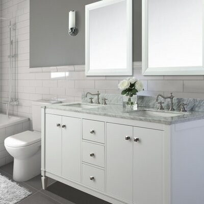 Kayleigh 60 Double Bath Vanity Set Base Finish: White