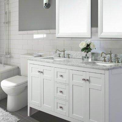 Maili 28 Double Bathroom Vanity Set Base Finish: White