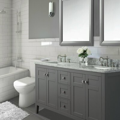 Maili 28 Double Bathroom Vanity Set Base Finish: Sapphire Grey