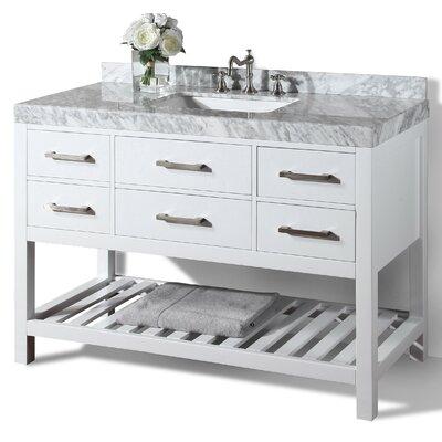 Elizabeth 48 Single Bath Vanity Set Base Finish: White