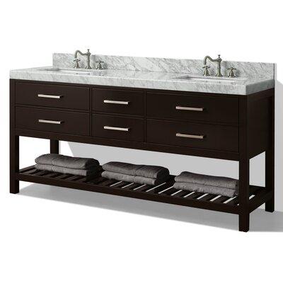 Elizabeth 72 Double Bath Vanity Set Base Finish: Espresso