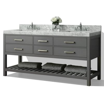 Elizabeth 72 Double Bath Vanity Set Base Finish: Sapphire Grey