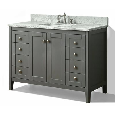 Shelton 48 Single Bath Vanity Set Base Finish: Sapphire Grey