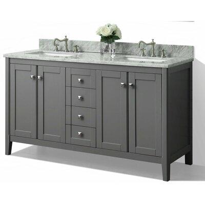 Shelton 60 Double Bath Vanity Set Base Finish: Sapphire Grey