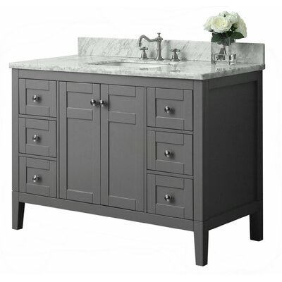 Maili 48 Single Bath Vanity Set Base Finish: Sapphire Grey