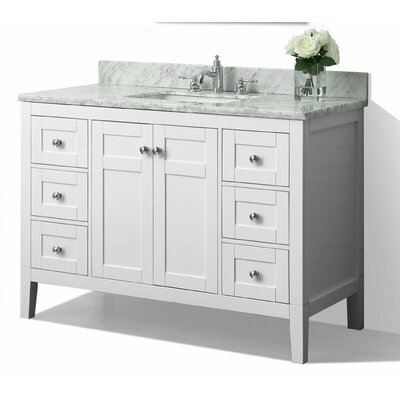 Maili 48 Single Bath Vanity Set Base Finish: White
