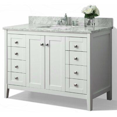 Shelton 48 Single Bath Vanity Set Base Finish: White
