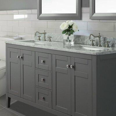 Maili 60 Double Bathroom Vanity Set Base Finish: Sapphire Grey