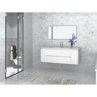 Kleinschmidt 55 Single Bathroom Vanity with Mirror