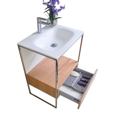 Wilford 24 Single Bathroom Vanity with Mirror