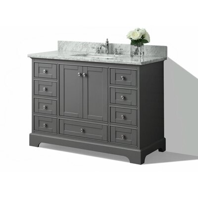 48 Single Bath Vanity Set Base Finish: Sapphire Grey