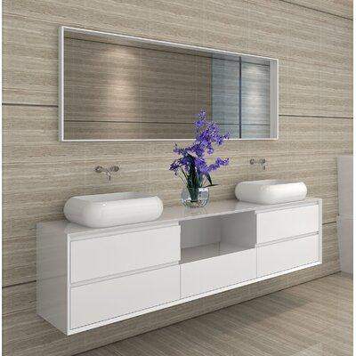 Shreve 72 Double Bathroom Vanity with Mirror